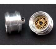 "front wheels Aluminum hubs type ""BBS gold"" for Porsche 962 / Toyota 88C with M3 grab screws (2x)"