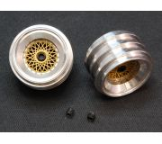 "rear wheels Aluminum hubs type ""BBS gold"" for Porsche 962 / Toyota 88C with M3 grab screws (2x)"