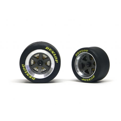 "wheel inserts type ""BBS 6 spokes"" front + rear set - painted (gun metal)"