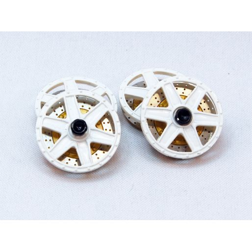 "wheel inserts type ""BBS 6 spokes"" front + rear set - painted (white)"