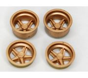 wheel insert set for Porsche 917K - gold (2+2)