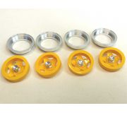 512 YELLOW painted inserts with aluminum ring and nut