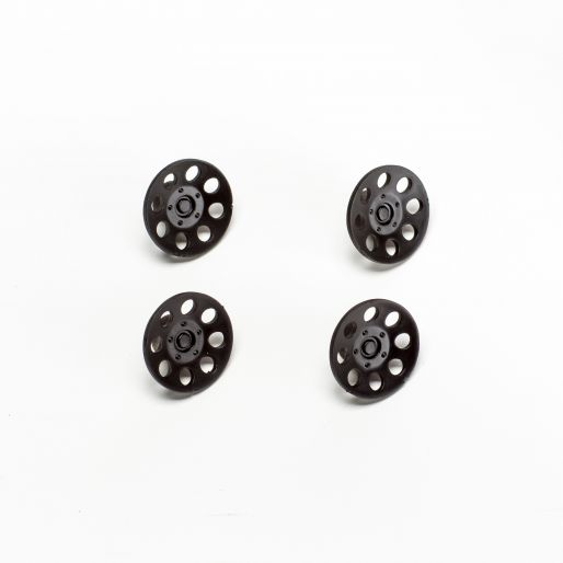 BRM S-406B NSU TT wheel painted inserts - BLACK (x4)