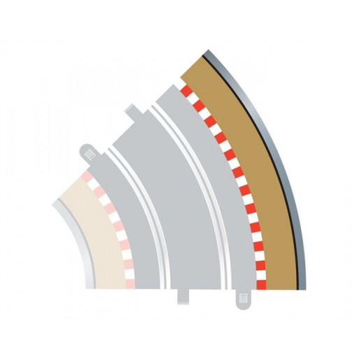 Scalextric C8228 Radius 2 Curve Outer Borders 45° x4