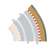 Scalextric C8228 Bordures Extérieures Courbe Radius 2 45° (4 pcs)