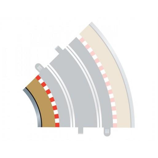 Scalextric C8225 Radius 2 Curve Inner Borders 45° (4 pcs)