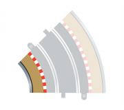 Scalextric C8225 Bordures Intérieures Courbe Radius 2 45° x4