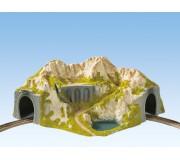 NOCH 05130 Tunnel du Coin, 1 Voie, Courbe, 41 x 37 cm