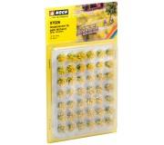 "NOCH 07026 Touffes d'herbes ""fleuries"", jaunes floqées"