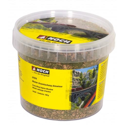 NOCH 07079 Master Grass Blend Alpine Meadow, 2,5 - 6 mm