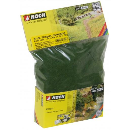 NOCH 7106 Wildgras, dunkelgrün, 6 mm