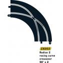 Scalextric C8203 Croisement en Courbe Radius 2 90° x2