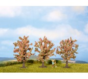 NOCH 25112 Fruit Trees, pink, 3 pieces, 8 cm high