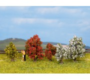 NOCH 25420 Bushes, in blossom, 5 pieces, 3 - 4 cm high