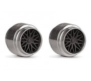 Slot.it PA20-Als Jantes Aluminium Ø14,4 x 11,5mm + enjoliveur type BBS x2
