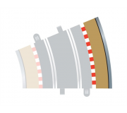 Scalextric C8224 Bordures Extérieures Courbe Radius 3 22.5° (4 pcs)