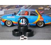 Paul Gage XPG-20094LMXD Urethane Tires 20x9x4mm (x2)