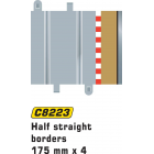 Scalextric C8223 Half Straight Borders 175mm x4