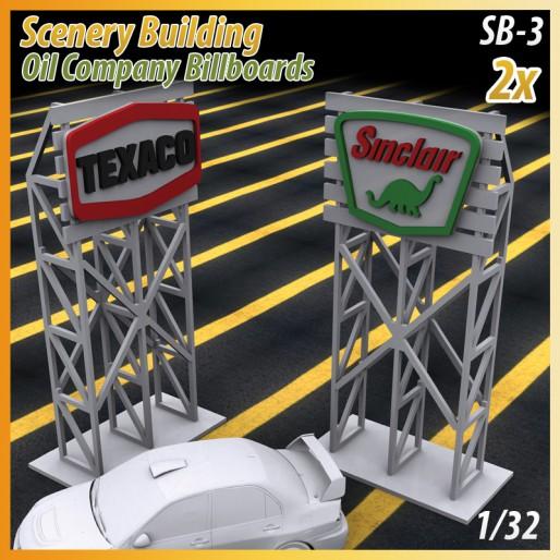 MHS Model SB-3 3D Logo Billboards (Texaco-Sinclair) x2