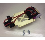 "Proto Slot-Kit KR02 Chassis Metal ""Side-Winder"" + Motor + Axles + Crown + Pinion + Pick Up + Wires + Screws"