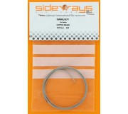 Sideways SWBR/07T Tin Plated Copper Braid 0.07mm Soft - 1 Meter