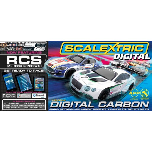 Scalextric Digital C1328 Coffret Carbon