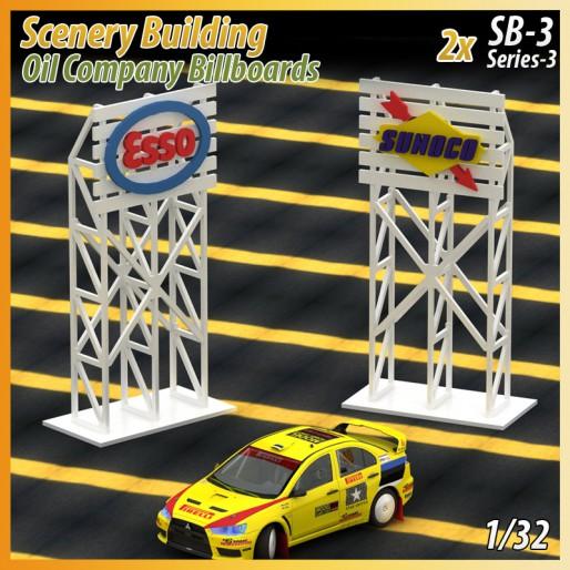 MHS Model SB-3 Se 3 3D Logo Billboards (Esso-Sunoco) x2