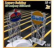 MHS Model SB-4 3D Logo Billboards (Gulf-Amoco) x2