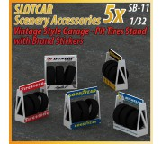 MHS Model SB-11 Support Pneu Stand & Garage Style Vintage x5