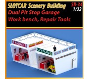 MHS Model SB-34 Dual Pit Stop Garage & Tools with Accessories