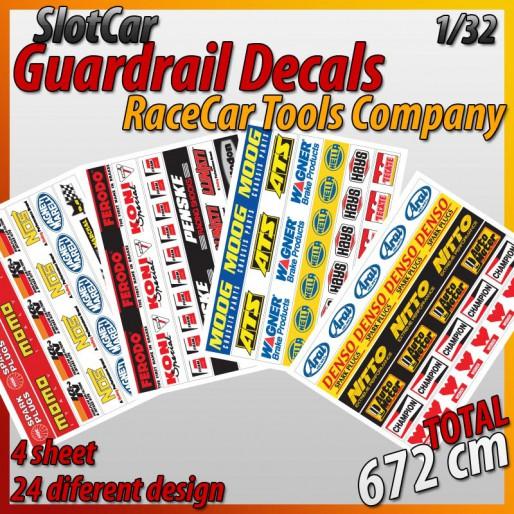 "MHS Model GA-3 Guardrail Decals ""RaceCar Tool"""