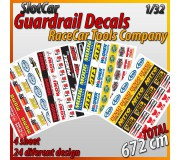 "MHS Model GA-3 Guardrail Decals ""RaceCar Tool"""