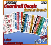 "MHS Model GA-7 Guardrail Decals ""RaceCar Brands"""