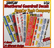 "MHS Model GAW-3 Weathered Guardrail Decals ""RaceCar Tools Company"""