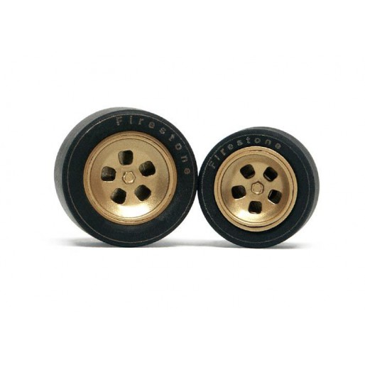 Slot.it PA35 Wheel inserts for hubs Ø14,3mm and Ø15,8mm Ferrari 312 PB type x2