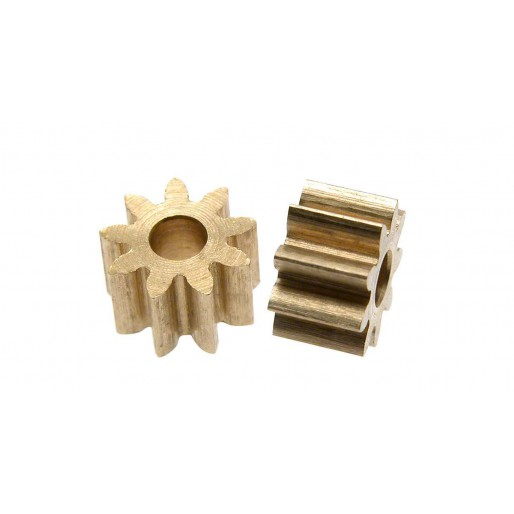 Scaleauto SC-1192 Brass Pinion 9 Tooth M50 for 2mm. motor axle. diam. 5.8mm