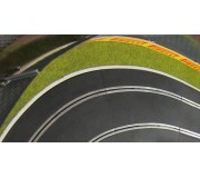 Slot Track Scenics WL-R4 White Line for outside R4 curves x10