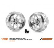"Scaleauto SC-4054D Monza 2 Aluminum Hub - 16,5 x 10 mm 0,9gr. 3/32"" axle. M2 screw"