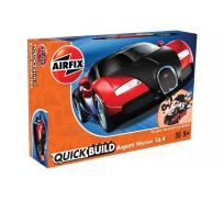 Airfix QUICK BUILD Bugatti Veyron Noir & Rouge