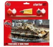 Airfix PZKW VI Ausf.B King Tiger Tank Coffret de Départ 1:76