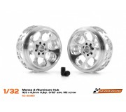 "Scaleauto SC-4046D Monza 2 Aluminum Hub  -  16,5 x 8,5 mm 0,8gr. 3/32"" axle. M2 screw"