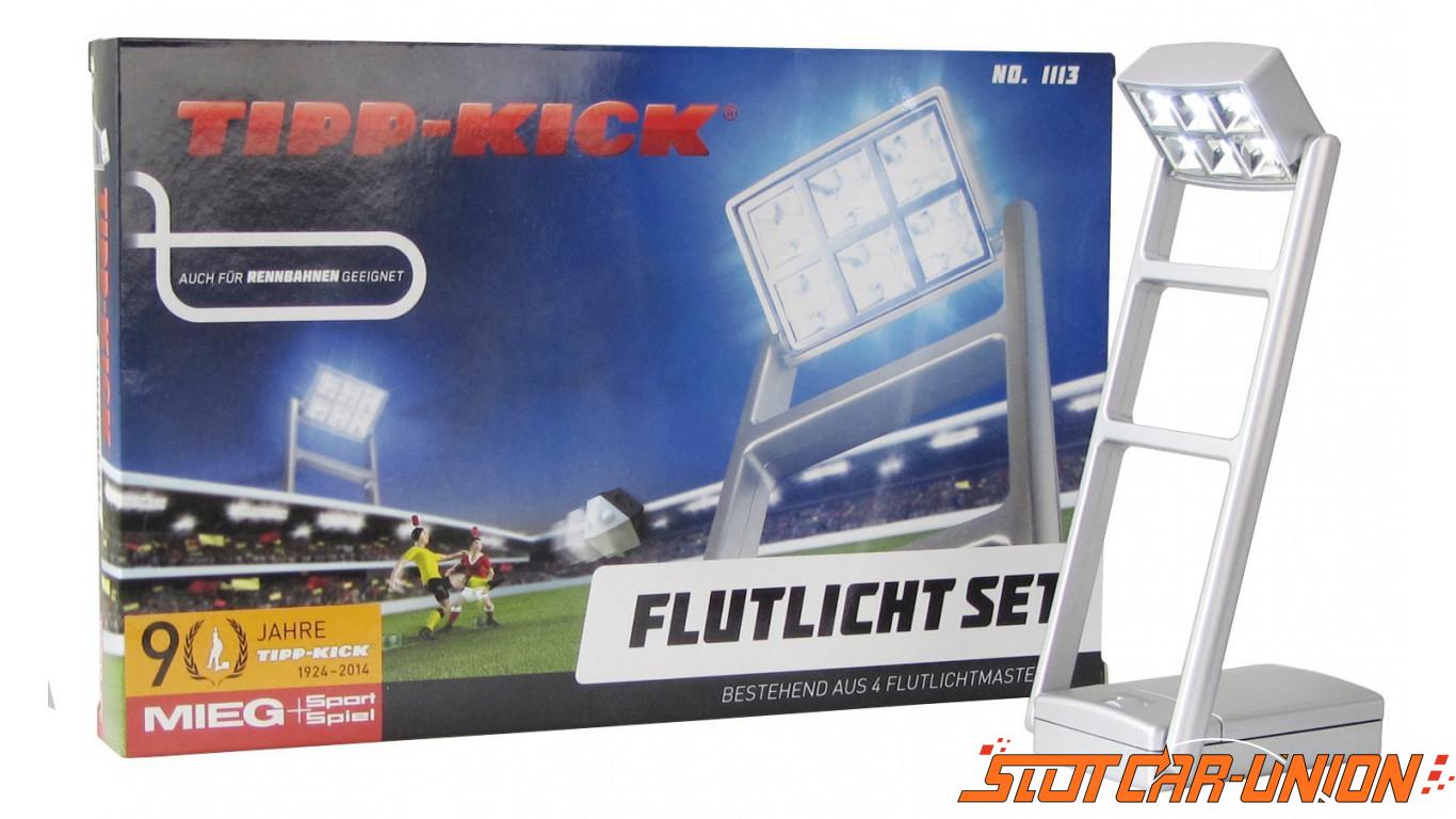 Track lighting slot car union tipp kick set of 4 floodlights aloadofball Images