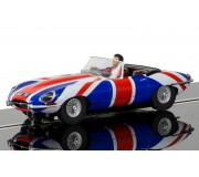 Scalextric C3878 Jaguar E-Type Union Jack