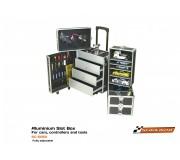 Scaleauto SC-5050 Slot Box Aluminium pour voitures, contrôleurs et outils