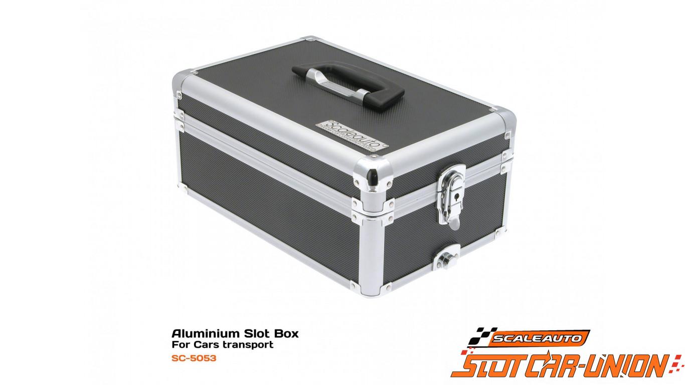 scaleauto sc 5053 slot box aluminium pour transport voitures slot car union. Black Bedroom Furniture Sets. Home Design Ideas