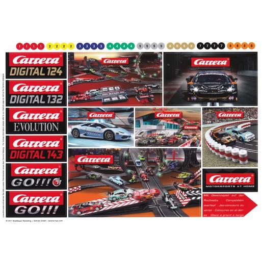 Carrera Feuille de logos autocollants 2017