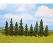 NOCH 25086 Fir Trees, 9 pieces, approx. 8 - 12 cm high