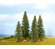 NOCH 25432 Fir Trees, 4 pieces, 4 - 8 cm high