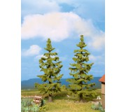 NOCH 21830 Spruce Trees, 2 pieces, 11 and 12.5 cm high