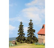 NOCH 21921 Spruce Trees, 2 pieces, 12 cm and 13 cm high